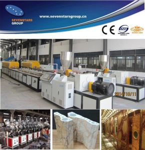 PVC Artificial Marble Stone Plastic Profile Production Line pictures & photos
