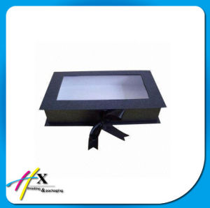 Clothing Packaging Box with PVC Window and Ribbon pictures & photos