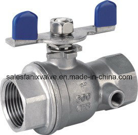 2PC Type with Test Hole Ball Valve with Internal Thread pictures & photos