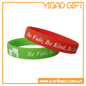 Promotional Silicone Wristband with Convex Logo (YB-SW-21) pictures & photos