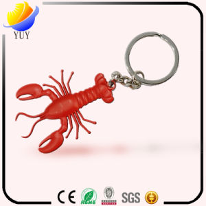 3D Effect and Different Color of The Lovely Lobster Shape Metal Key Chain pictures & photos