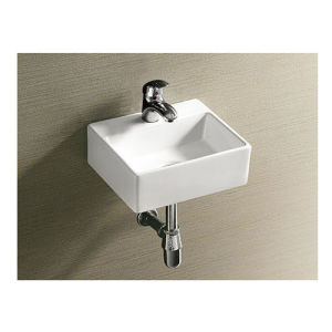 Small Wall Hung Square Wash Basin Sink for Hotel Use pictures & photos