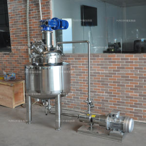 Stainless Steel Electric Heating Vacuum Cream Emulsifying Tank with Emulsifying Pump pictures & photos