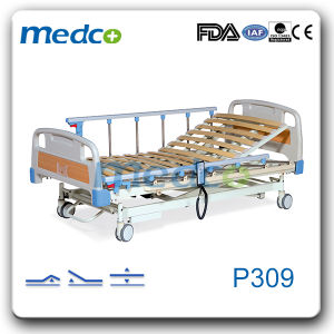 Ultra-Low Wooden Bedboard Three Functions Electric Hospital Bed pictures & photos