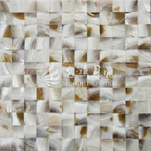 Freshwater Shell Nature Brown Color 25*25mm Arch Face Mosaic Tile pictures & photos