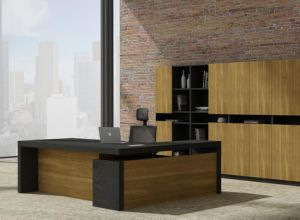 Modern Design L Shape Executive Desk with Steel Foot (NS-ND037) pictures & photos