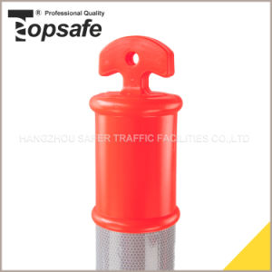 Hi Reflective T Top Bollard with Rubber Base (S-1422) pictures & photos