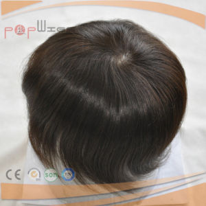 Human Hair Full Coated Lace Straight Women Super Thin Skin Soft Poly Hair Piece pictures & photos