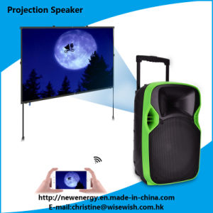 Professional 12 Inches Portable Active Speaker with LED Projector pictures & photos