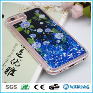 Flower Bling Liquid Glitter Water Sparkly Stars Bling Hard TPU Case for iPhone 6 7 Plus pictures & photos