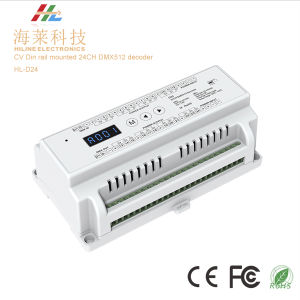 DIN Rail Mounted DMX512 Decoder 24CH*3A pictures & photos