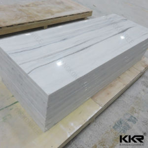 White Veined Corian Acrylic Solid Surface Sheet pictures & photos