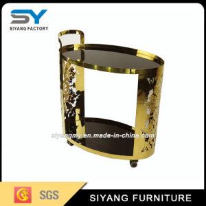 European Design Restaurant Furniture Gold Metal Dining Car pictures & photos