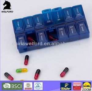 Hot Sale Colorful Multiple Uses 7 Day Pill Box