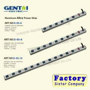 Best Quality Us Type Aluminum Alloy Power Strip (S-01-12) pictures & photos