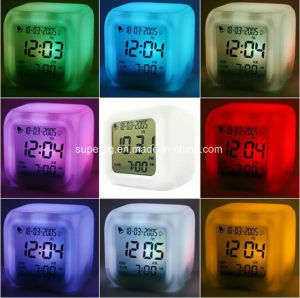 Multi-Function LED Glowing Change Digital Alarm Clock pictures & photos