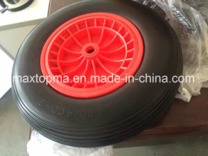 Maxtop Solid Rubber Flat Free PU Foam Wheel pictures & photos