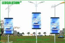 P6 Outdoor Advertising Street Light Pole Poster LED Display pictures & photos