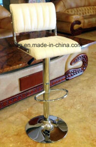 Comfortable Leather Uphystery Swivel Bar Chairs (LL-BC049) pictures & photos