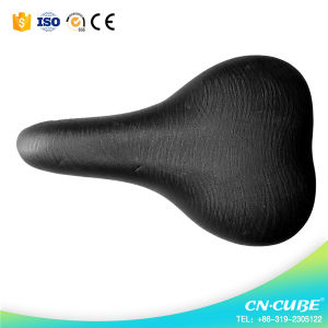 China Factory Wholesale Black Leather Bicycle Saddles pictures & photos