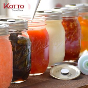 16oz Wide Mouth Ball Glass Mason Jar with Metal Lid Metal/ Storage Glass Bottles/ Jam Jar pictures & photos