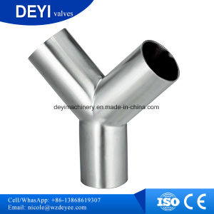 Hygienic Ss304 Welded Y Type Tee pictures & photos