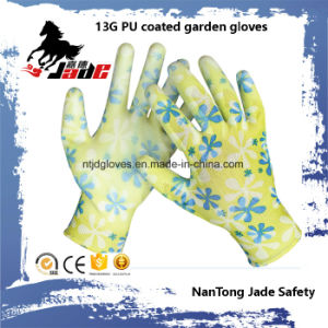 13G PU Coated Garden Work Glove pictures & photos