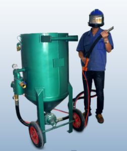 High Pressure Blasting Pot Mobile Sandblaster with 2spray Gun for Sale pictures & photos