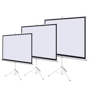 "84"" Diagonal 1: 1 Aspect Tripod Projector Screen Portable Projection Screen pictures & photos"