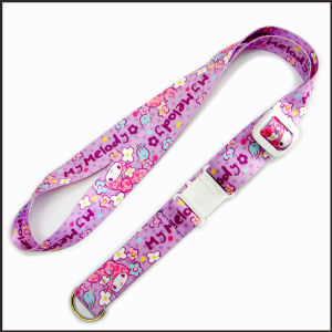 Polyester Multi-Color Dye Sublimation/Heat Transfer Logo Custom Lanyard for Neck pictures & photos