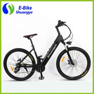 Shuangye 26′′ 28′′ Hidden Battery LCD Display Electric Mountain Bike pictures & photos