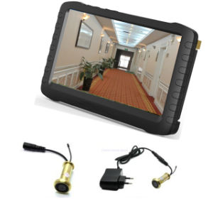 "5.8g Wireless Door Eye Peephole Viewer Camera with 5"" LCD Real Time display DVR Monitor (90 degree, loop recording and motion detect) pictures & photos"