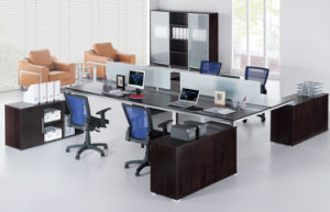Modern Aluminum Glass Office Workstation Partition for 4 Person pictures & photos
