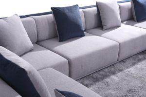 Home Living Room European Style Modern U Shape Fabric Sofa (HC573) pictures & photos