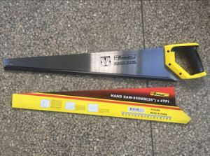 """High Quality 65mn Steel 26"""" Hand Saw with Cushion Grip for Woodworking pictures & photos"""