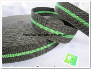 450d Black Green Polypropylene Webbing