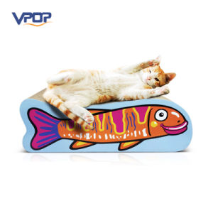 Carton Fish Shaped Cardboard Cat Toys Cat Toy Scratcher pictures & photos
