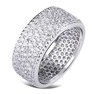 Full Diamond Jewelry 925 Silver Rings Wholesales pictures & photos