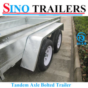 Galvanized Tandem Box Trailer with Removable Cages