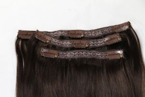 "High Quality 100% Human Hair Weave Clip-in Hair Extensions 20"" Color 6# 8PCS /Set pictures & photos"