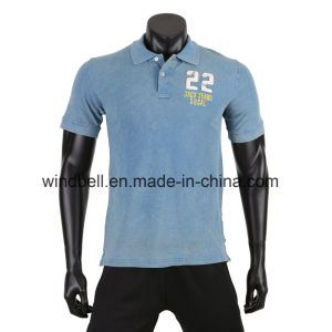 2017 New Style T Shirt for Men with Snow Wash pictures & photos