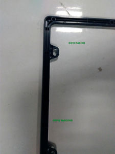 Different Shape Black Car License Plate Frame Frames Holder with ABS 312X160mm pictures & photos