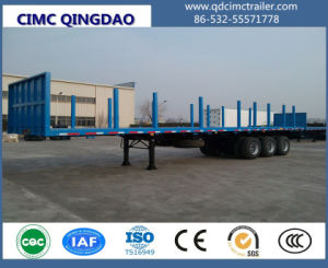 48FT Container Transport Semi Trailer, Flatbed Semi-Trailer pictures & photos