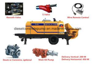 90m3 Large Diesel Stationary Concrete Pump (HBT90.18.195RS) pictures & photos