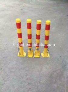 Red White Removable Steel Traffic Bollards for Parking Barrier pictures & photos