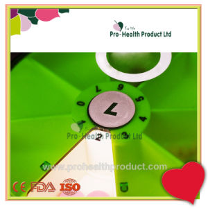 One Week Plastic Display Cover Rotatable Round Pill Box pictures & photos