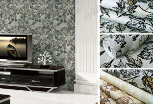 High Quality Wall Decor Wallpaper, Eco-Friendly Velvet Flocked Wall Paper pictures & photos