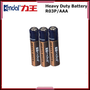 AAA Battery R03p 1.5V Carbon Battery 2PCS Blister Card Package pictures & photos