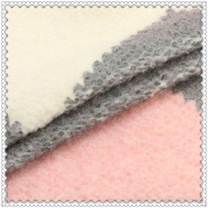 25%Wool 75% Polyester Romantic Pink Woolen Fabric for Overcoat pictures & photos