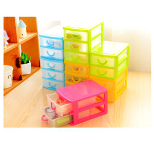 2 and 3 Layers Small Plastic Desktop Drawer Storage Solution Unit Organizer Box pictures & photos